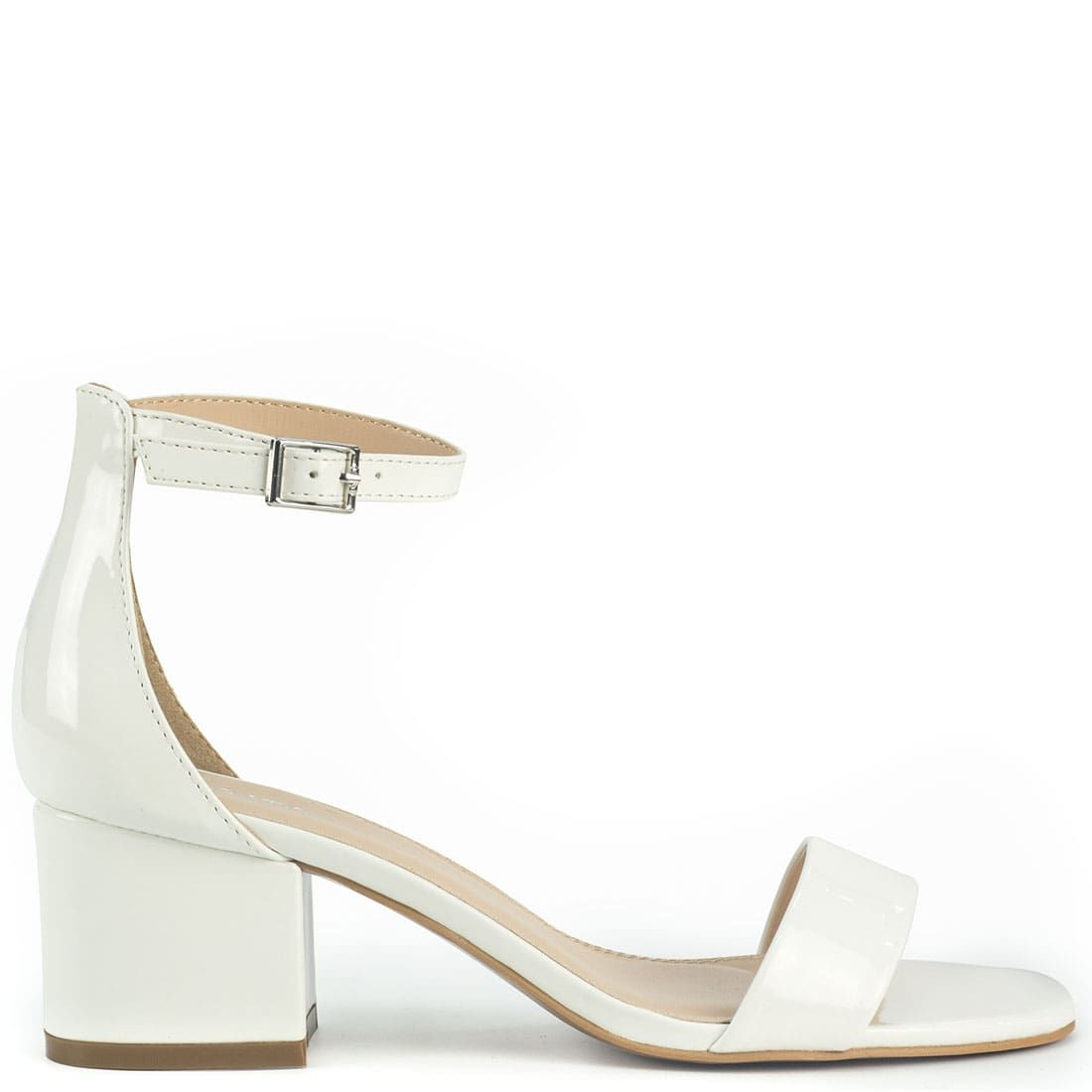 White sandal in patent ST0569-L13
