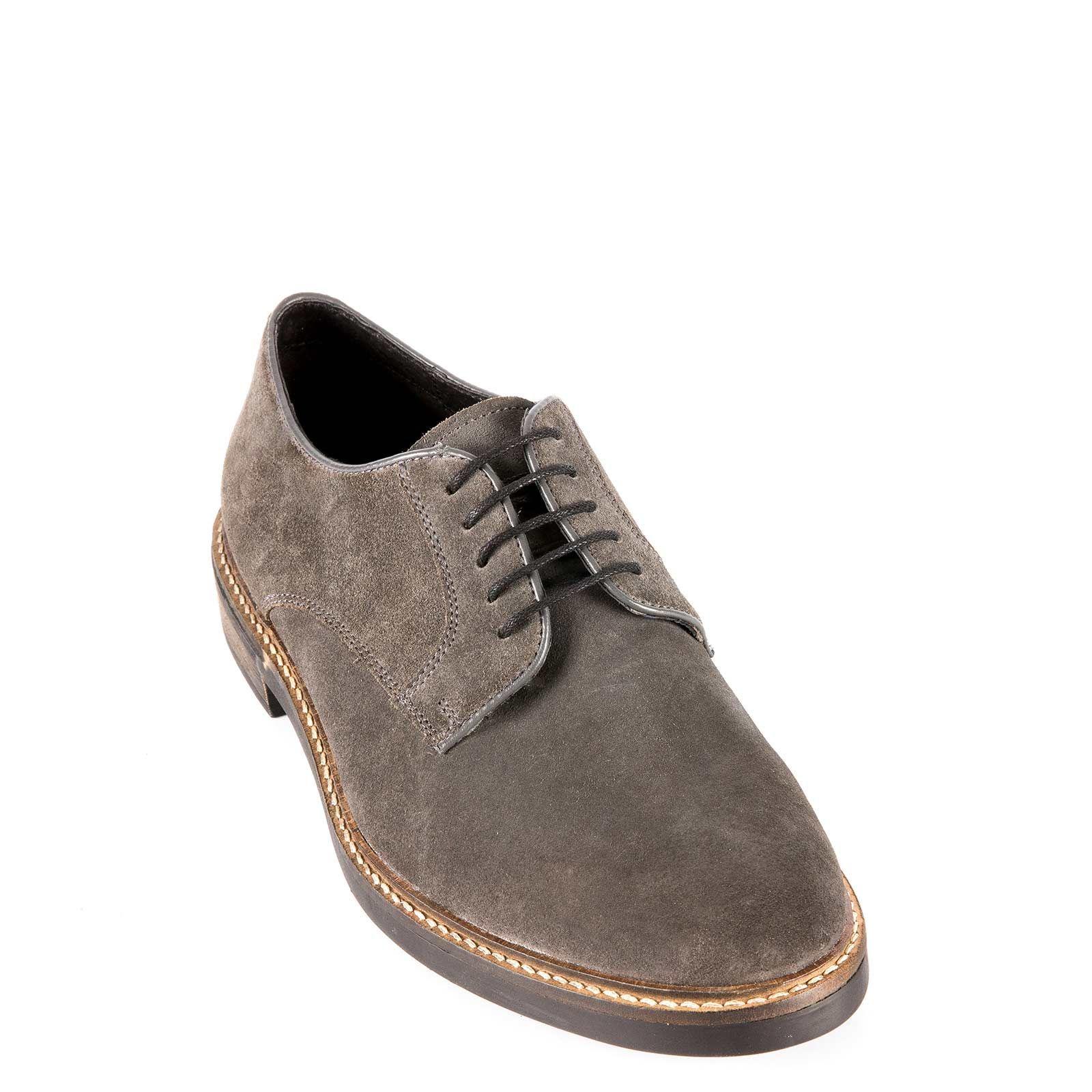 Men's grey leather Oxford UV509-M15 < Men's Oxfords Shoes| MIGATO