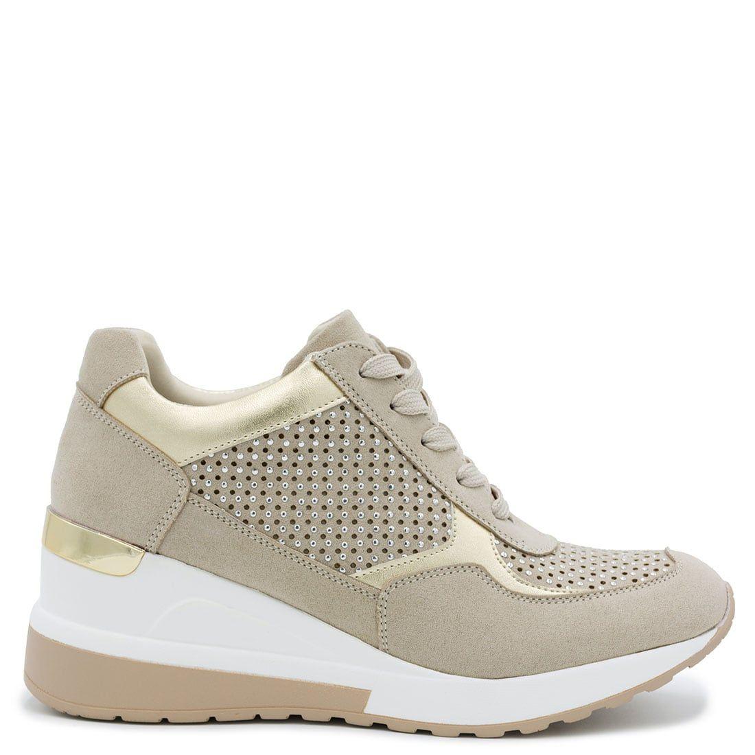 Beige hidden heel sneaker XN3414-L10