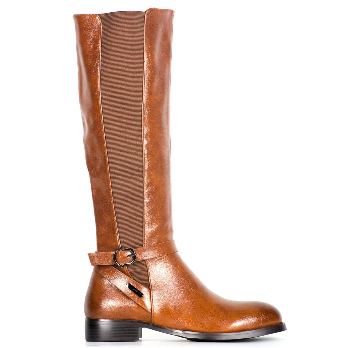 Tobacco riding boot with buckle CR293