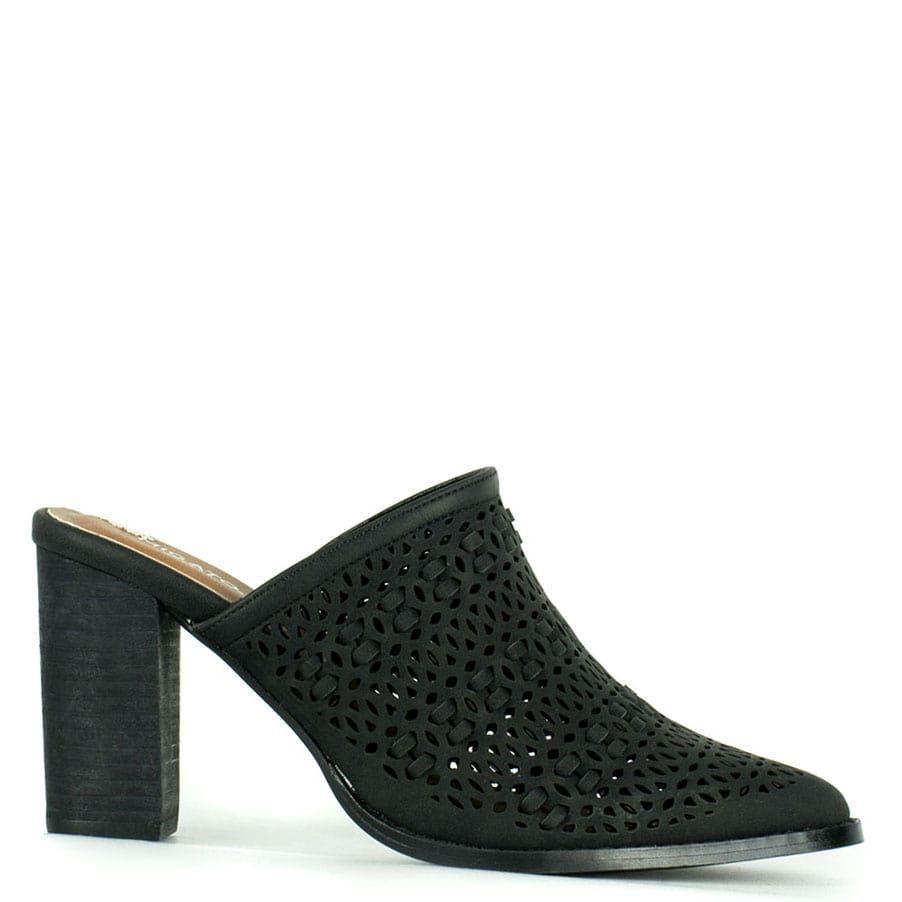 Black perforated mule NY116-L14 \u003c Women