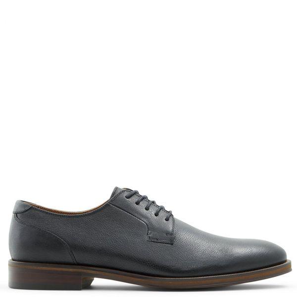 IEZERUFLEX Ανδρικό μαύρο δερμάτινο παπούτσι