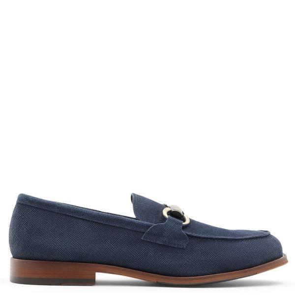 HARTHEFLEX ανδρικό μπλε δερμάτινο loafer
