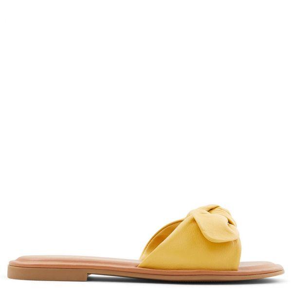 ABAYRITH κίτρινο δερμάτινο σανδάλι