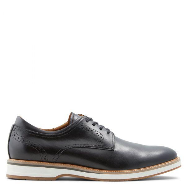 ASTEANFLEX ανδρικό μαύρο δερμάτινο παπούτσι