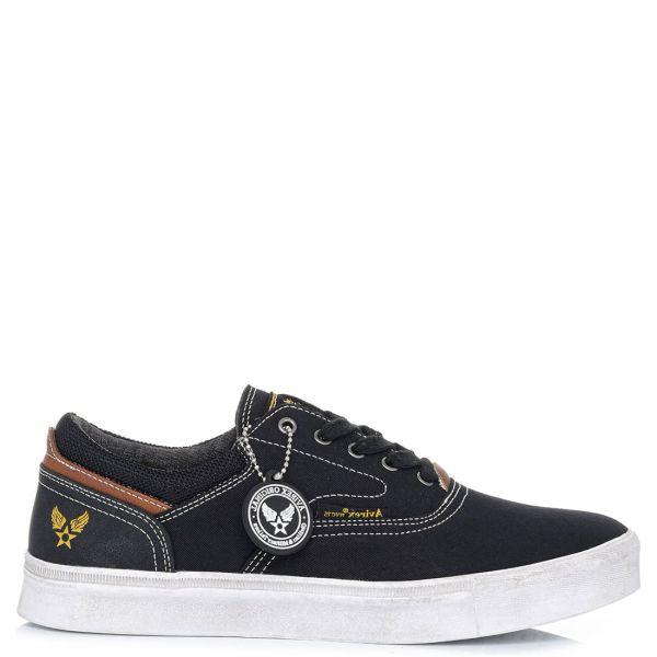 Ανδρικό μαύρο sneaker