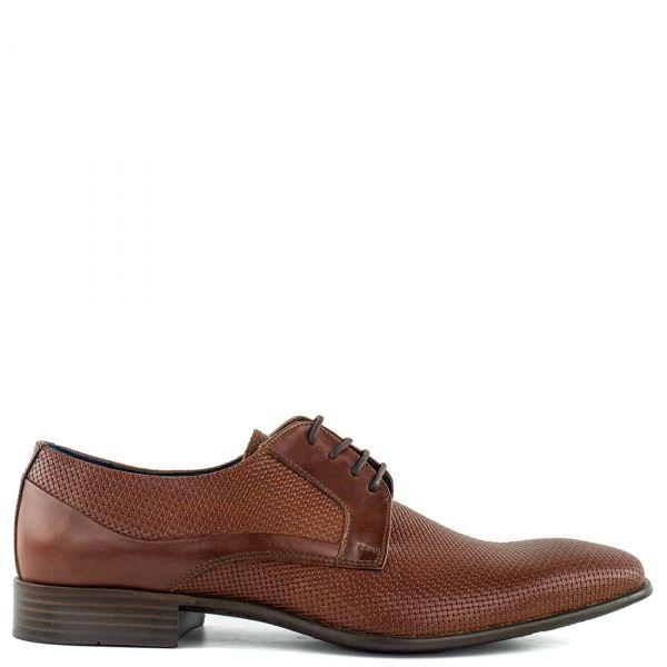 Ανδρικό καφέ δερμάτινο παπούτσι