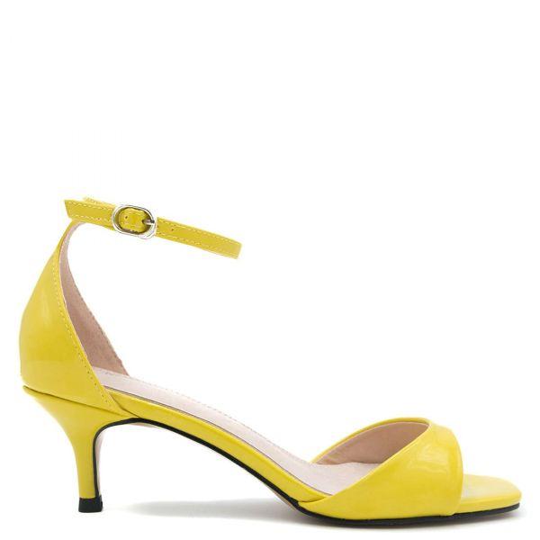 Κίτρινο λουστρινένιο πέδιλο