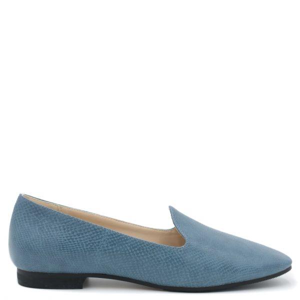 Μπλε snakeskin loafer