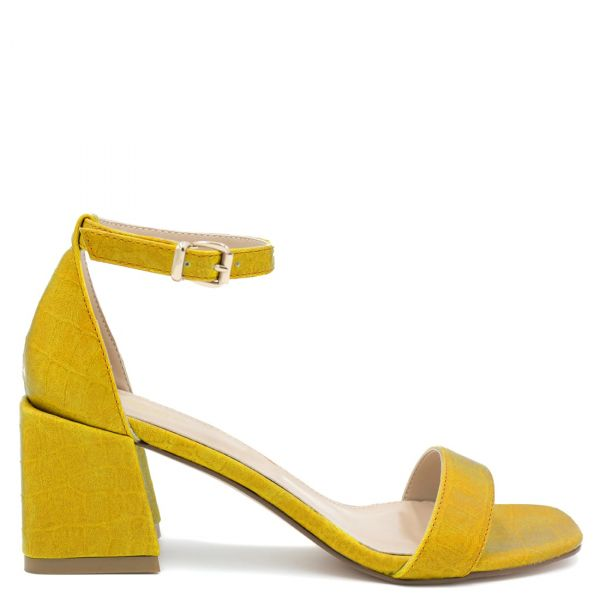 Κίτρινο κροκο πέδιλο