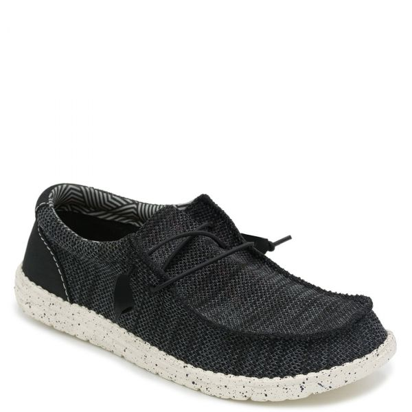 Ανδρικό μαύρο υφασμάτινο sneaker