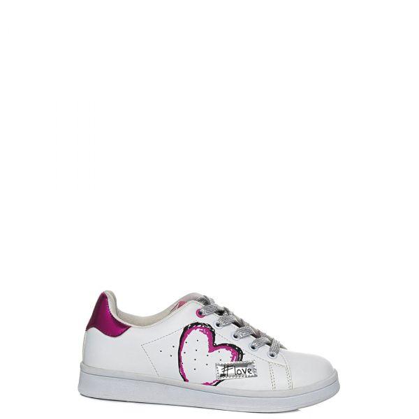 Λευκό παιδικό sneaker