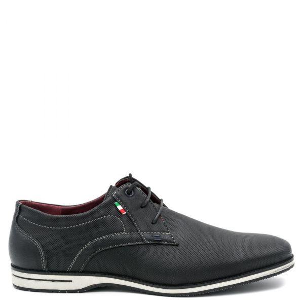 Ανδρικό μαύρο διάτρητο παπούτσι
