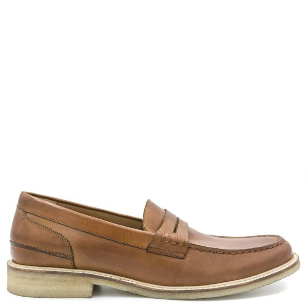 Ανδρικό ταμπά δερμάτινο loafer