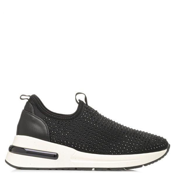Μαύρο slip-on sneaker με στρας