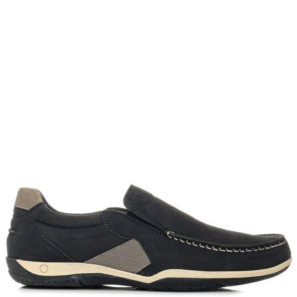 Ανδρικό δερμάτινο μπλέ boat shoe