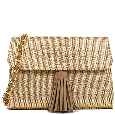 Gold straw bag KJ8003-L18