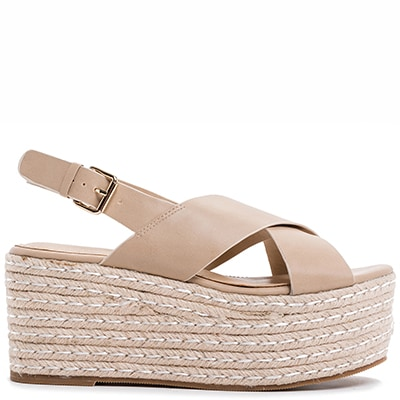 Beige platform with cross bands L7916-L10