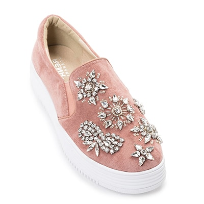 MIGATO RN3963-L44 ροζ sneaker με κρύσταλλα