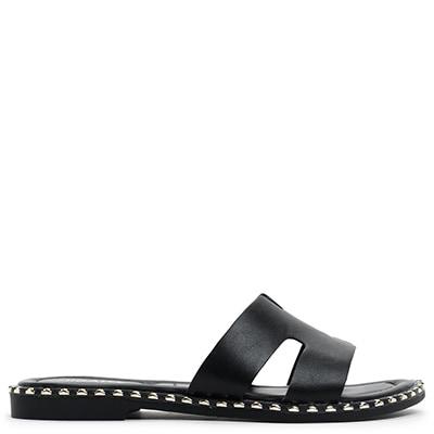 Black sandal with studs SH8152-L14