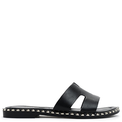 Black sandal with studs SH8152-L14
