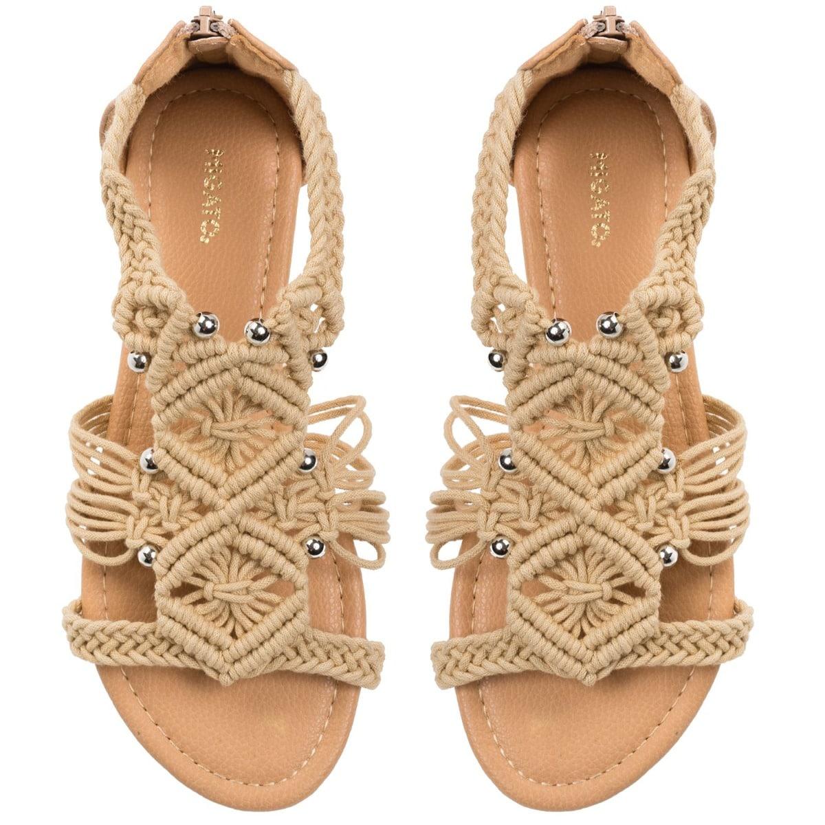 MIGATO ZH0206-L10 beige macramé sandals
