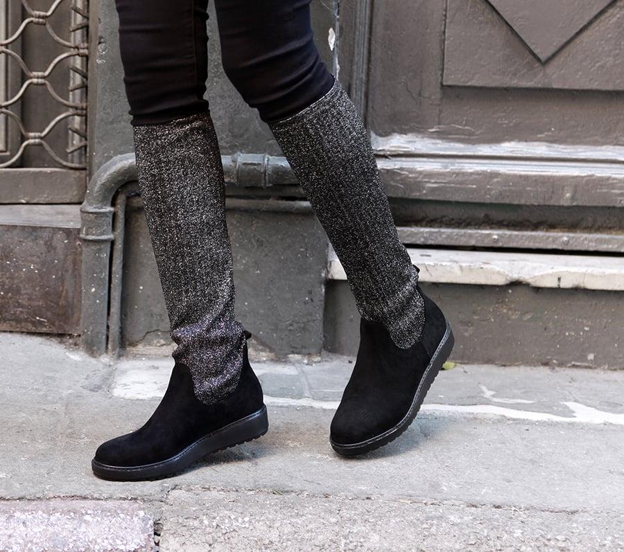 Μαύρη ελαστική μπότα LSM2310-L14