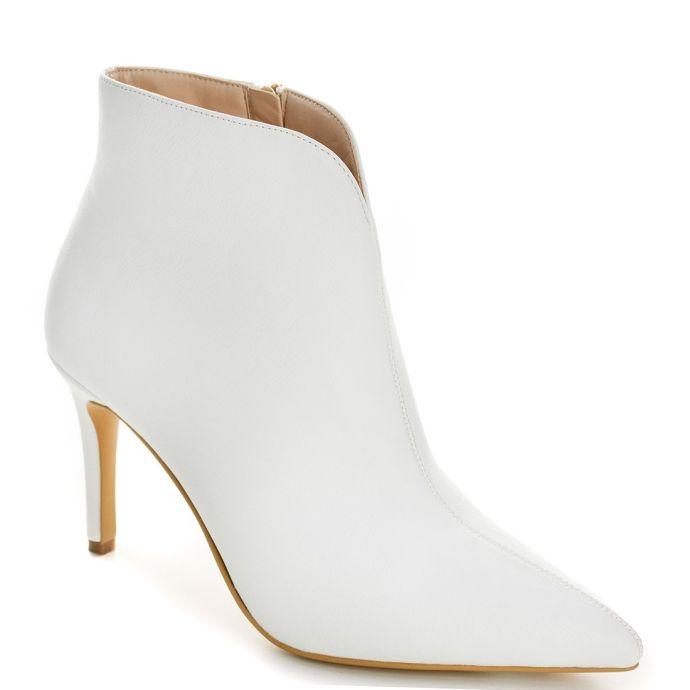 Λευκό ψηλοτάκουνο μποτάκι ES5626-L13