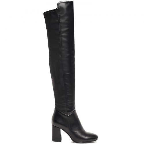 Μαύρη μπότα πάνω από το γόνατο XN7815-L14