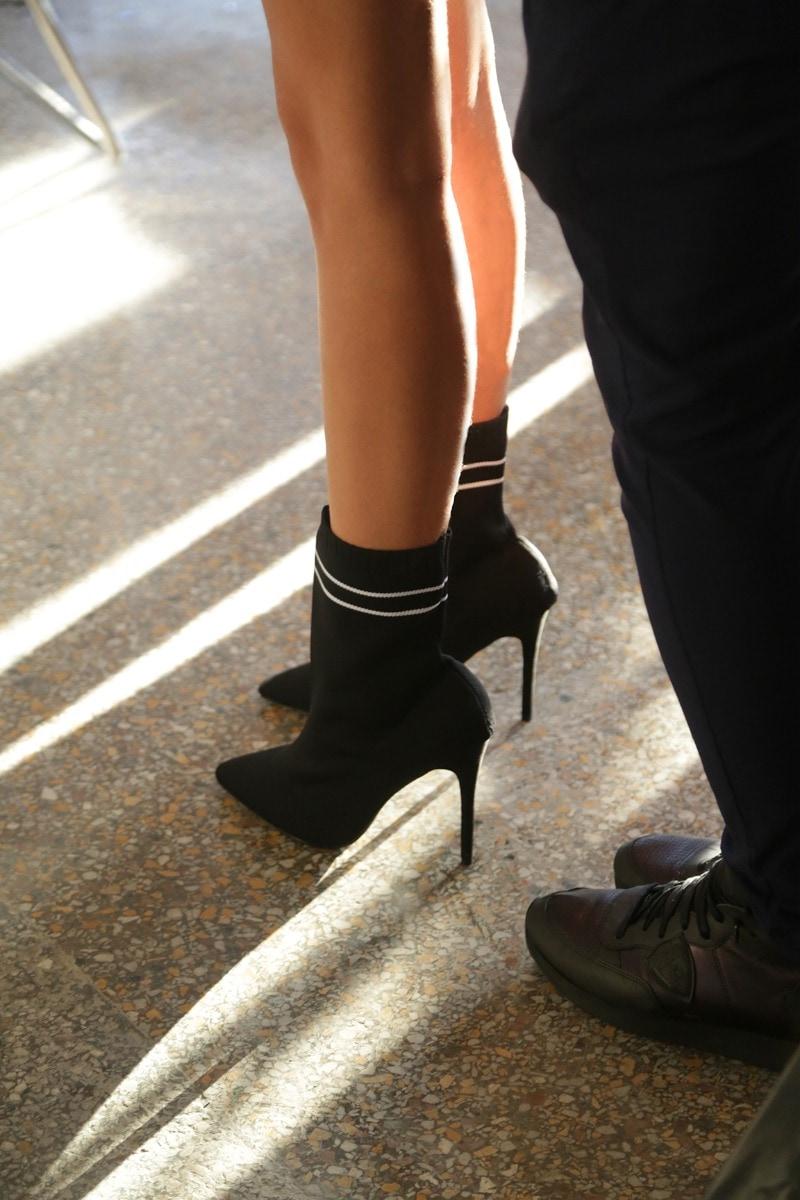 Black high heel bootie WM0126-L14