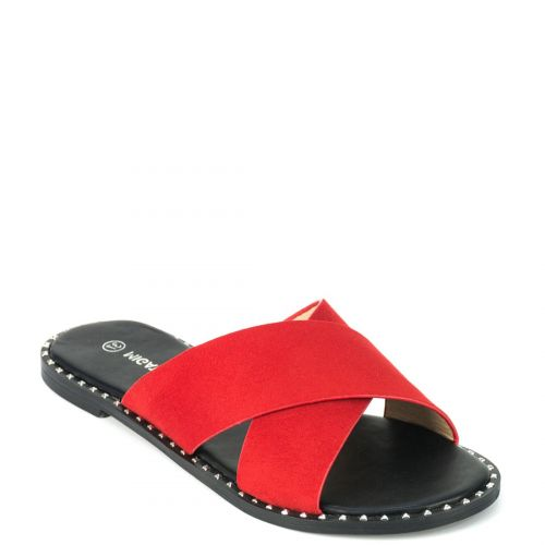 Κόκκινο σουέντ σανδάλι XL2613-L08