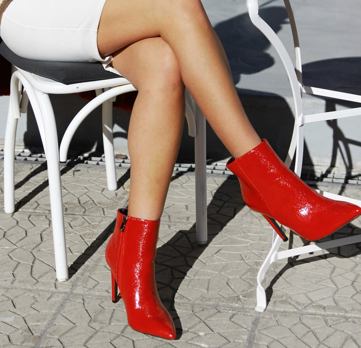 MIGATO red patent high heel bootie ES0528-L08